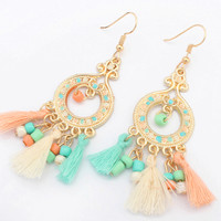 anting panjang rumbai bohemia fashion earrings jan079