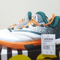 Sepatu Basket Adidas Crazy Light CL Boost 2.5 Miami Putih Hijau Orange