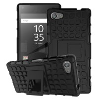 RUGGED ARMOR Sony xperia Z3 / Z5 Compact soft case casing back cover - Z5 Compact, Black