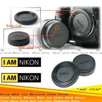 Set Body & Rear Cap Tutup Bodi & Lensa Belakang Kamera DSLR Nikon