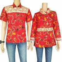 Baju batik pria cauple/batik lengan pendek/batik pria dan wanita