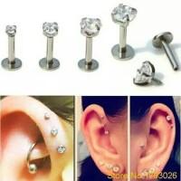 body piercing anting tindik telinga stainless steel permata
