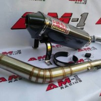 Knalpot Yoshimura USA Honda Tiger Revo/Megapro/Verza/New/Leher Cacing