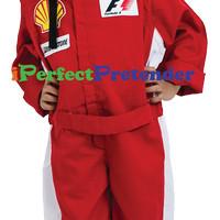 Kostum Pembalap uk 6 (6-7 tahun) Baju Profesi Pembalap Karnaval