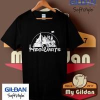 Kaos Original Gildan - T Shirt - Kaos Harry Potter Hogwarts Disney