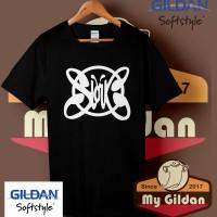 Kaos Original Gildan - T Shirt - Kaos Gildan Band Slank Logo