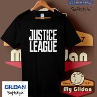 Kaos Original Gildan - T Shirt - Kaos Gildan Justice League Logo
