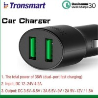 Tronsmart CC2TF 36W Quick Charger 3.0 & VoltiQ USB Car Charger