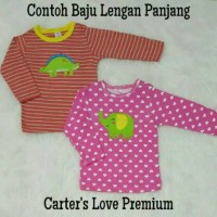 Long tee carter premium / baju bayi lengan panjang