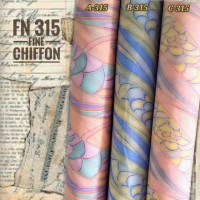 Kain sifon fine (FN 315 PILIH WARNA) Lebar 1.15 - harga per 1m