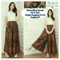 celana Kulot Brown Chiko Long pant jumbo batik