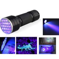 Mini Flashlight with 21 LED Lamp UV Light+Pest Detector+Money Check