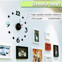 Jam Dinding Dekorasi Wall Clock 30-50cm Hitam Elegant Bukan Seiko