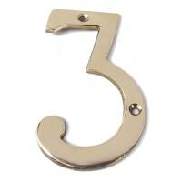 4 Nomor Angka Apartmen Rumah Toko Kuningan / Brass Number No. 3