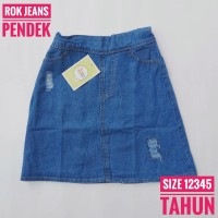1 2 3 4 5 tahun rok jeans pendek anak perempuan|rok mini jeans anak