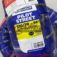 Ban Motor Tubeless Michelin Pilot Street 120/70 - 14 Vario Beat Scoopy