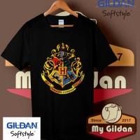 Kaos Gildan Harry Potter Hogwarts logo