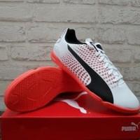 Sepatu Futsal Puma Adreno III IT White Black Coral 104047 05 Original