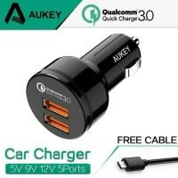 AUKEY CC T8 CAR CHARGER 2 ports Qualcomm Quick Charge 3.0 Technology