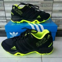 REAL PICT / Adidas AX2 Hitam Hijau / Sepatu Pria