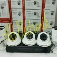 paket cctv HIKVISION 5 Camera Full HD 2 MP HDD 1TB(tinggal pasang)