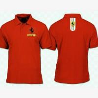 Kaos Pria Polo Shirt T-shirt Baju Fashion Pria Ferrari