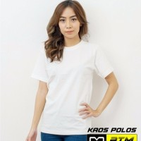 Kaos Polos Cotton Combed 20s Lengan Pendek Dewasa Putih Size S