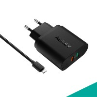 Aukey PA-T13 PowerAll Charger 33W Qualcomm Quick Charge 3.0 - Hitam