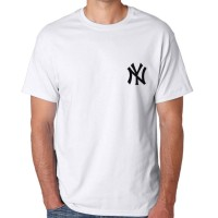 Tumblr Tee / T-Shirt / Kaos Pria Lengan Pendek NY Warna Putih