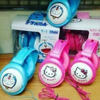 Headset Bando Karakter Doraemon Hello Kitty