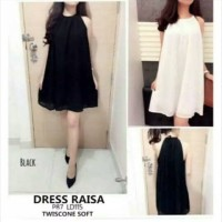 dress raisa dress polos dress tanpa lengan mini dress murah baju murah