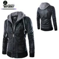 Hoodie Leather Jaket Kulit Sintetis (NW-89)
