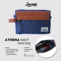 Tas Journey Athena navy / Hand Bag Pria Dan Wanita/ tas gadget