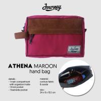 Tas Journey Athena maroon / Hand Bag Pria Dan Wanita/ tas gadget