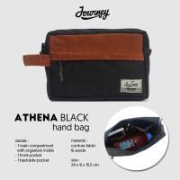 Tas Journey Athena Black / Hand Bag Pria Dan Wanita/ tas gadget