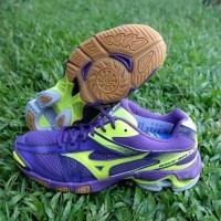Sepatu Volly / Voli Mizuno V1GA176045 Wave Bolt 6 Petunia Safety Yello