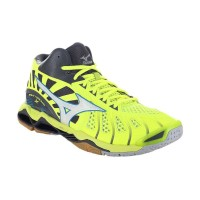 Sepatu Volly / Voli Mizuno V1GA161701 Wave Tornado X Mid Safety Yellow