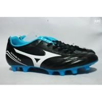 Sepatu Bola Mizuno P1GA162390 Monarcida Fs Md (Wide) Black/White/Blue