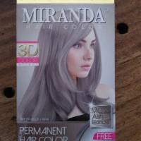 Cat Pewarna Rambut Permanent Miranda Ash Blonde mirip Abu Abu