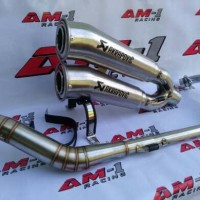Knalpot Akrapovic Megaphone Honda Tiger/Megapro/Verza/New/Leher Cacing