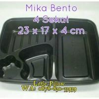 (Min400 KHUSUS GOJEK)Tray Bento Sekat Hitam/Box Bento/Mika Bento