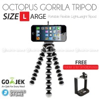Octopus Gorilla LARGE SIZE Tripod With Holder U for Smartphone / HP