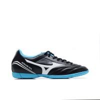 Sepatu Futsal Mizuno P1GF162390 Monarcida Fs In (Wide) Black/White/Blu