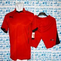 Baju Kaos Olahraga Jersey Bola Setelan Futsal Berkerah Puma Grosir