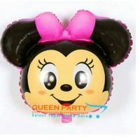 balon foil kepala tsum tsum pink/balon tsum tsum/ balon kepala (jumbo)