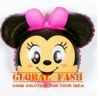 balon foil kepala tsum tsum pink / balon kepala karakter tsum (jumbo)