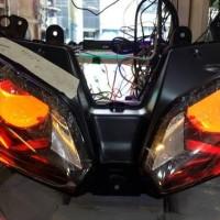 Projector / Lampu Projie Ninja 250 FI Model ZX636 (1 Set + Headlamp)