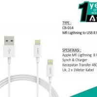 AUKEY CB-D14 Lightning Cable 2 pcs. GARANSI RESMI INDONESIA 1 TAHUN