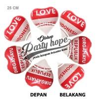 Balon foil love merah putih / balon HUT RI / Balon 17 agustus / balon