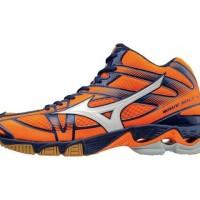 Sepatu Volly / Voli Mizuno V1GA176502 Wave Bolt 6 Mid Orange Clown